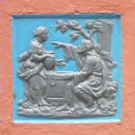 Picture of wall plaque, Portmeirion, (c) 2008 John Rye